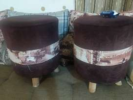 Tow stools in brown colour