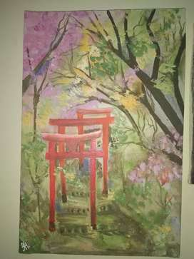 Hand painted acrylic painting