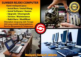 Instal dan Service Komputer PC dan Laptop Panggilan Seluruh Jakarta