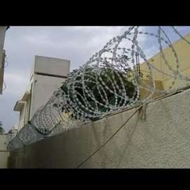 Razor Wire and Barbed wire with Installation