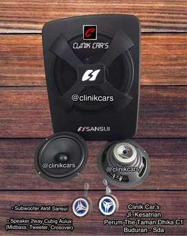 • Paket Audio aktif Subwoofer Sansui + 2way Aulux