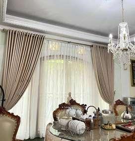 Terima Pesanan Gorden Wallpaper Rumah Kantor Apartemen Hordeng Korden