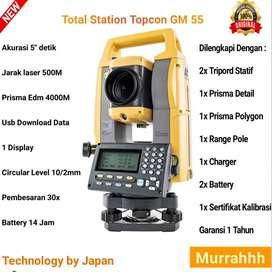 Ready Total Station Topcon GM 55 Baru Top Basic Resfectorless