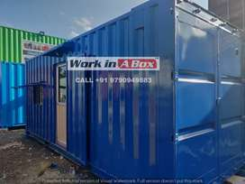 FURNISHED SITE OFFICE WITH ATTACHED TOILET