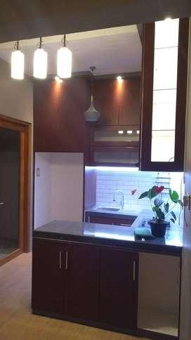 kitchen set interior dapur backdrop partisi almari furniture hpl mebel