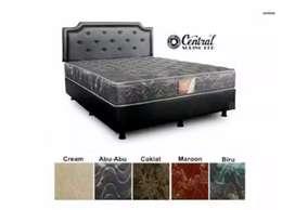 Central Spring Bed Set Deluxe 200x200 (Garansi Per / Pegas 10 Tahun)