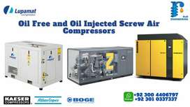 Screw Air Compressors, Air Dryers,  Chillers, Cooling towers.