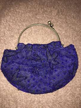 Blue fancy purse