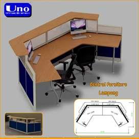 Meja recepsionis kantor ukuran besar