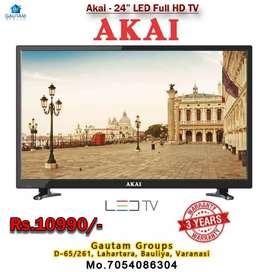 Akai 24 inch LED TV full HD 3year warranty home service