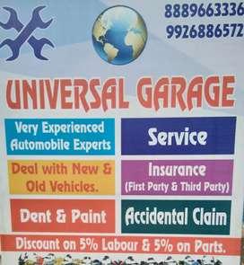 Universal Garage. Home pick & Drop Service.