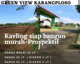 Promo termurah tanah kavling free SHM Aman jelas se Malang raya