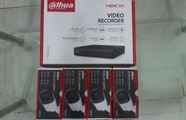 4 CCTV Cameras 720p HD (Complete Package) Dahua, (DVR,XVR,NVR, IP)