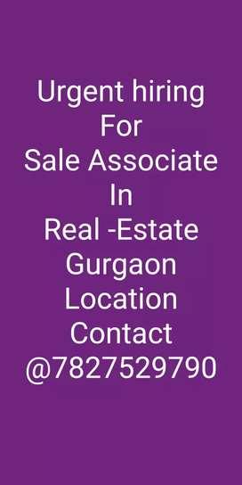 Urgent hiring for Sales associate in Gurgaon