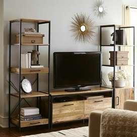 Lemari Tv Industrial Rak Tv Stand Tv
