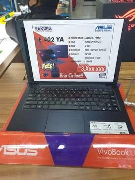 Kredit Laptop Asus E402YA Dp 785rb Proses Cepat 3 menit Syarat Mudah