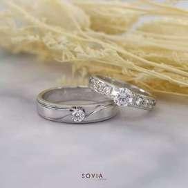 Menjual cincin sepasang bahan Palladium halal untuk muslim