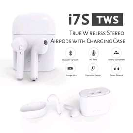 Headset Headphone Handsfree Bluetooth Seri I7s Tws