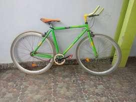 Jual sepeda fixie hijau kuning united