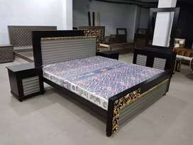 King size solid wooden structure bed room sets available