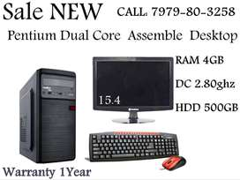 Student Offer Brand New Desktop Intel Dual Core CPU With 15.4' LED
