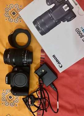 Canon 800D with 18-135 zoom lens