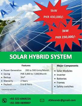 Solar Power System 5kW and 3kW