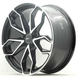 jual pelek racing ring18x8 H5x114,3 untuk mobil innova terios rush dll
