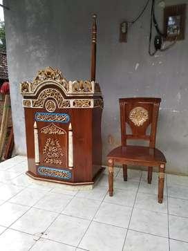 Mimbar podium mimbar masjid