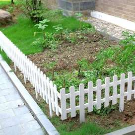 wooden fence white color