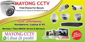 CCTV Hikvision 4 ch 2 mp