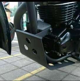 Skidplate Skid Plate Pelindung Mesin Motor Kawasaki W175