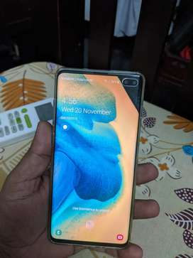 Samsung S10 plus prism white full box with 3 months warrenty remaining