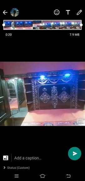 6 feet bed in fully new condition 7 days used only with black paint,