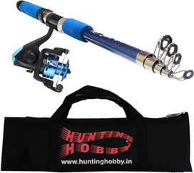 Fishing Spinning Rod, Reel, With Travelling Bag (6 Feet)
