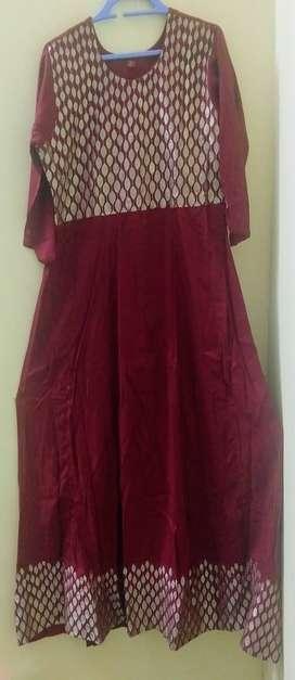 Heavy rayon embroidered anarkali dress