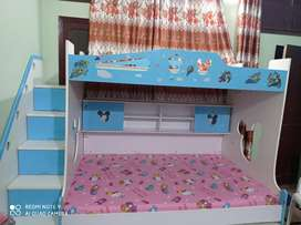 Beautiful kid's Triple bunker bed with huge study/computer table