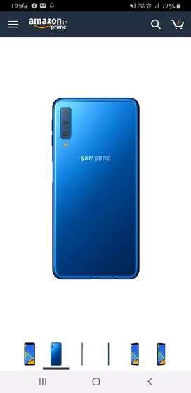 Samsung A7 2018 Blue 4gb 64 gb in warrenty