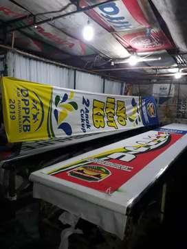 Sablon Umbul Umbul Bendera Spanduk Banner Bahan Kain Termurah