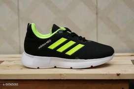 Sepatu Adidas Running - Hitam Hijau-Green BAYAR DI TEMPAT
