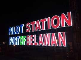 letter/huruf timbul,neon box kantor/tempat usaha sumatera utara medan