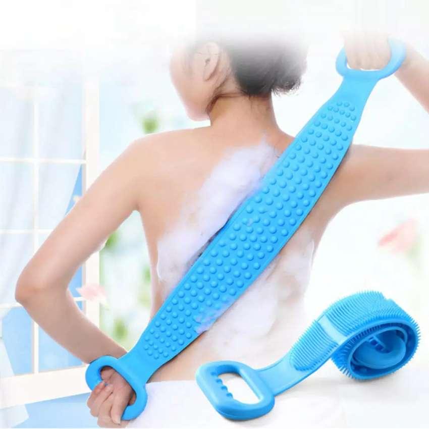 Alat Bantu Mandi Sikat Punggung Silicone Back Bath Brush 0