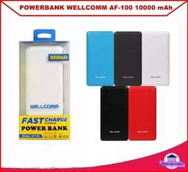 Power bank wellcomm 10.000 mah aman di pesawat