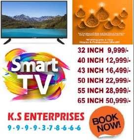 diwali maha looto offer 50% off 32 inch full smart full android led tv