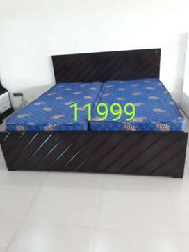 Commercial teak ply wood double bed