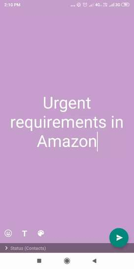 Urgent requirement