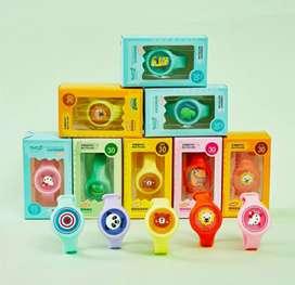 Gelang Anti Nyamuk Bayi / Anak LED Gambar Kartun Lucu Essential Oil
