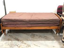 5x6 one & 3x6 two complete teak wood cots with two 3x6 new beds at Vsp