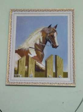 Lukisan Kuda Acrylic on Canvas uk 60 X 70cm