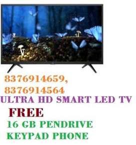 "32""INCH SMART ANDROID LED TV WITH FREE KEYPAD PHONE AND PENDRIVE"